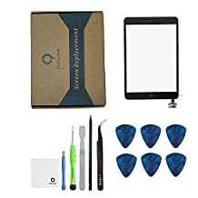iPad mini 1 / ipad mini2 Front Glass/Digitizer Touch Panel Full Assembly with IC Chip & Home Button replacement &tool kit Black(Step by Step Instruction)