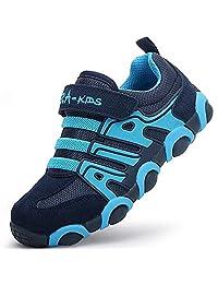 DADAWEN Kids' Boy's Girl's Casual Strap Light Weight Sneakers Running Shoes(Toddler/Little Kid/Big Kid)