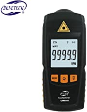 GM8905 Digital LCD Tachometer Non-Contact RPM Tach Test Meter Motor Speed Gauge Tester