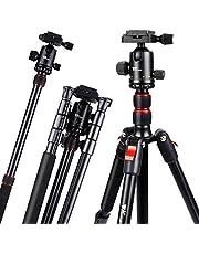 Kamera Stativ - Amzdeal Aluminium Stativ mit 360° Kugelkopf (36mm), Klappmaß 41cm, Einbeinstativ 164cm, Leichtes Stabiles Stativ für Canon Nikon Sony DSLR-Kameras