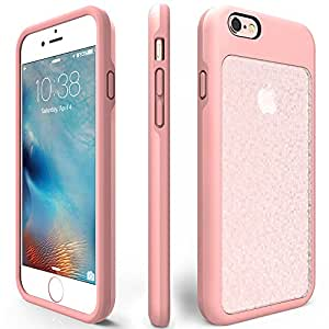 iPhone 6 Shockproof Case, ZVEpower Mobile iPhone 6S Protective Bling Case Slim Crystal Detachable PC Flexible TPU Rubber Silicone Skin Cover Shell for Apple iPhone 6 6S Rose Gold