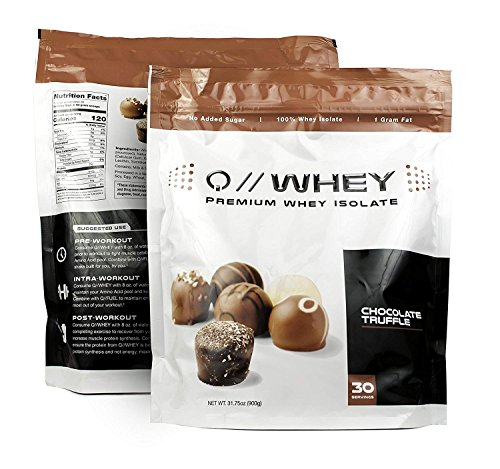 (Quantified Nutrition Q // WHEY 100% Whey Protein Isolate 30 Servings Chocolate Truffle Flavor)