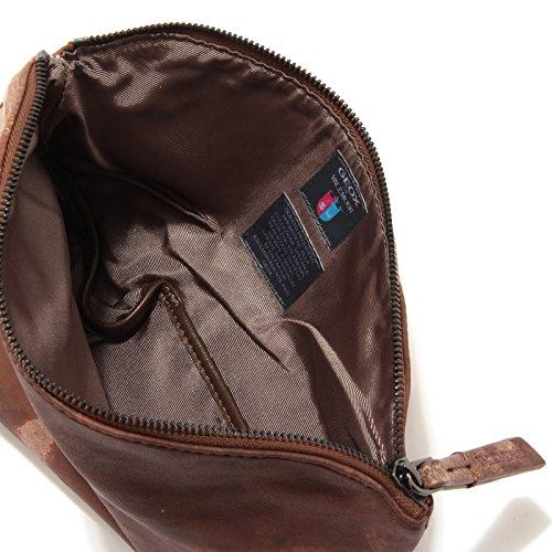 7949S borsa donna GEOX FOR VALEMOUR tracolla marrone hand bag woman [TAGLIA UNICA]