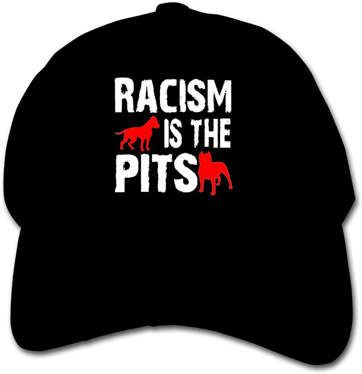 Pldmkg Racism is The Pits Childrens Hat Cap Youth Lightweight Quick Drying Baseball Hat