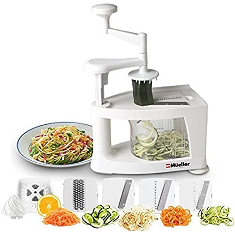 Mueller Spiral-Ultra Multi-Blade Spiralizer is 8 into 1 Spiral Slicer