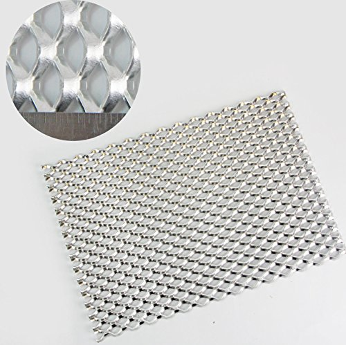 20mm x 14mm Expanded Metal - Aluminium - A4 Sheet (210 x
