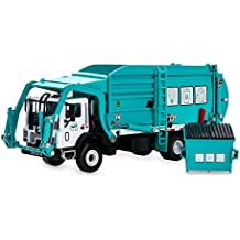 Garbage Truck Toy Model, 1:43 Scale Metal Diecast Recycling Clean Trash Garbage Rubbish Waste Transport Truck Alloy Model Mold Car Toy with Garbage Cans for Kids Toddlers Birthday Party Supplies