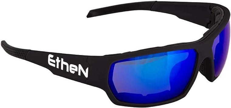 ETHEN st05ne Gafas Stunt Negro Lente Azul Unisex, Multicolor ...