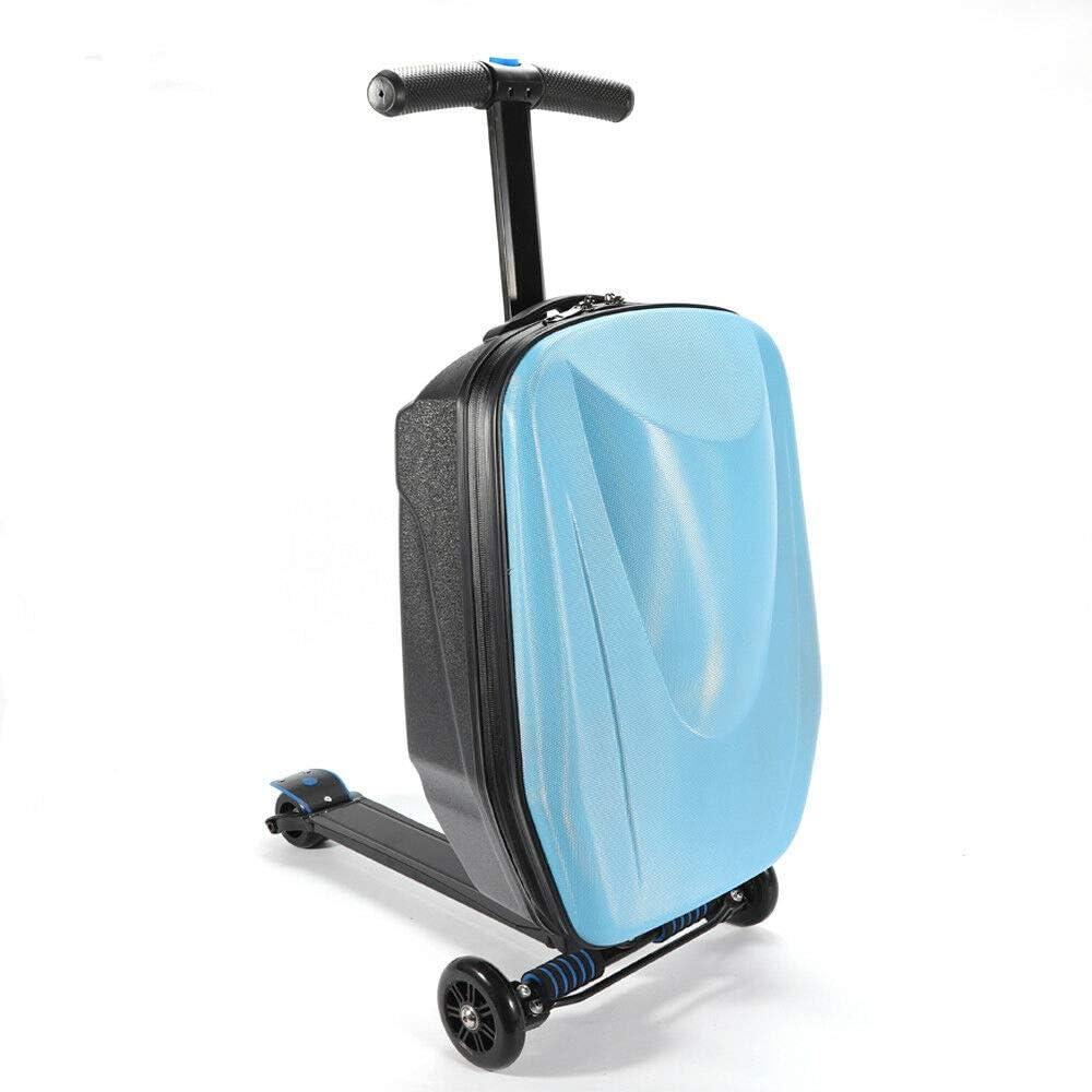 Estuche de Viaje de 20 Pulgadas Scooter Scooter Trolley Equipaje de Mano Maleta con Ruedas Scooter Maleta Estuche de Viaje Maleta rígida Maleta Rodillo Equipaje