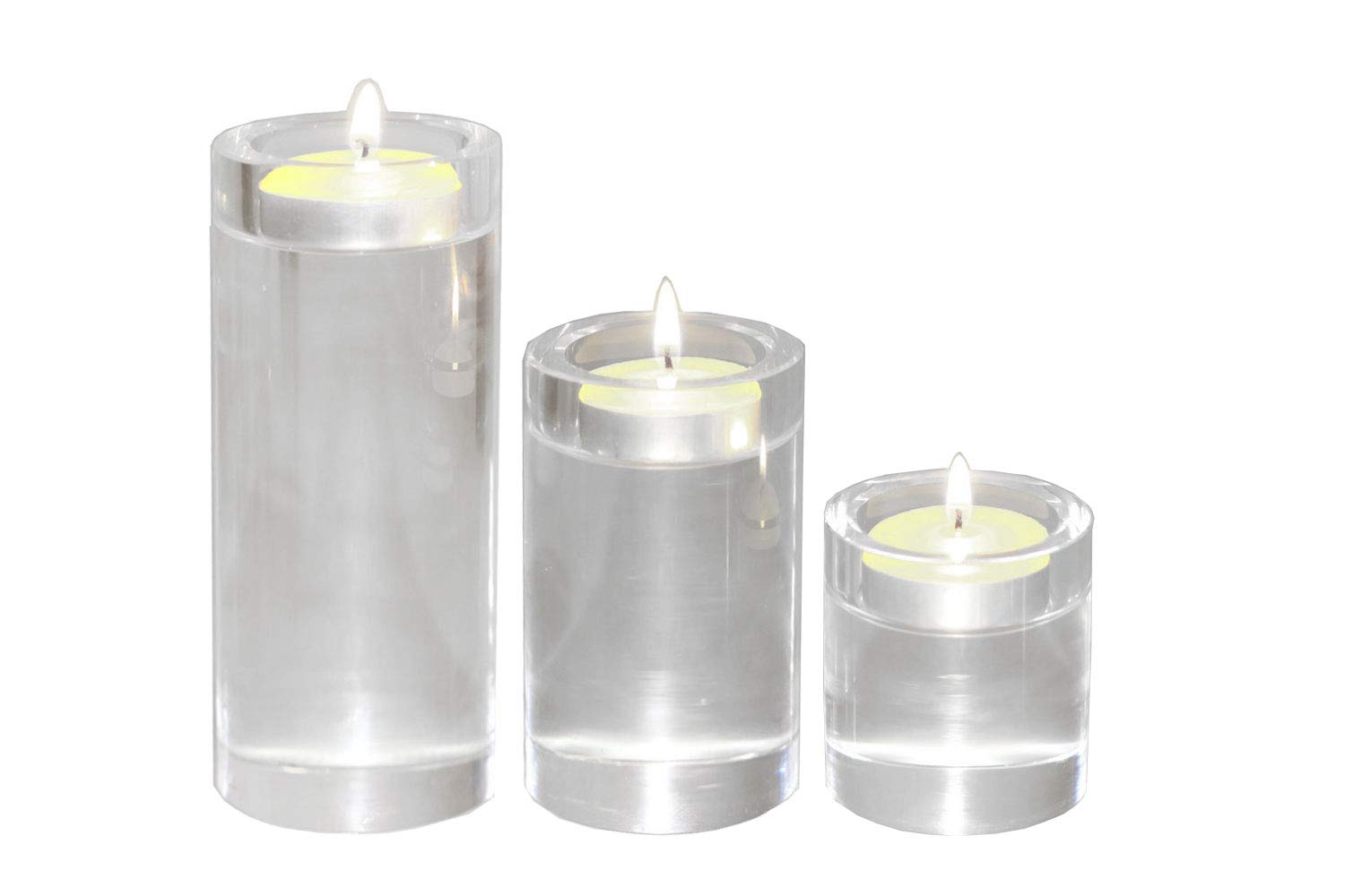 Amazon SweetHome Elegant Cylindrical Crystal Candlesticks For Birthday Party Dining Table Candlelight Tealight Candle Holder Set Of 3 55 4 23H