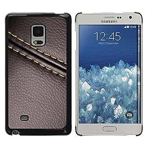 Samsung Galaxy Mega 5.8 , JackGot - Impreso colorido protector duro espalda Funda piel de Shell (Cuero de la puntada de la textura de Brown)