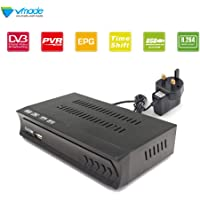 Vmade FULL HD DVB-S/S2 Satellite Receiver for TV or LCD Monitor, Free To Air, USB PVR, Full 7day EPG Support Network with a Wifi Dongle