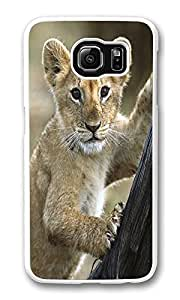 VUTTOO Rugged Samsung Galaxy S6 Case, Lion Cub Hard Clear Case Cover Protector for Samsung Galaxy S6