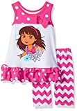 Nickelodeon Girls Dora The Explorer 2 Piece Bike Short Set
