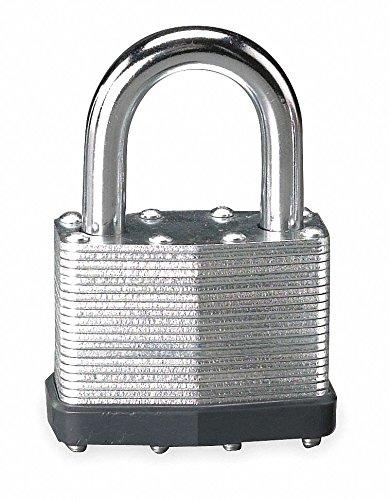 Alike-Keyed Padlock, Open Shackle Type, 1-1/4'' Shackle Height, Silver- Pack of 5