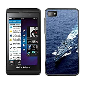 LECELL -- Funda protectora / Cubierta / Piel For Blackberry Z10 -- Nature Army USA Navy Destroyer --