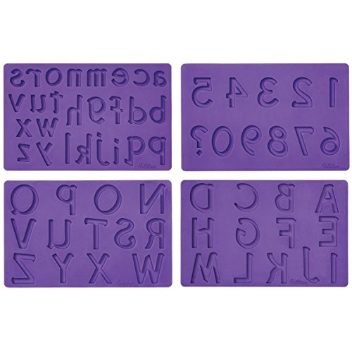 Wilton Fondant and Gum Paste Silicone Mold, Letters and Numbers