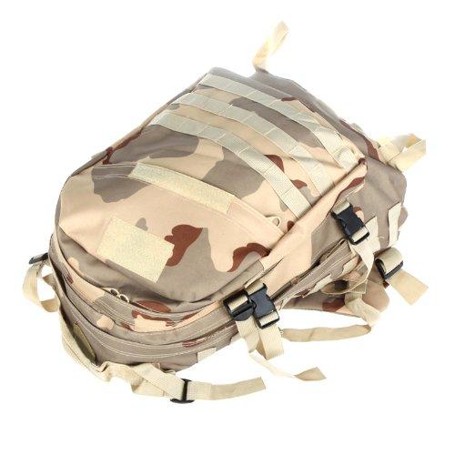 Kingzer Militaryバックパックリュックサックキャンプハイキングトレッキングバッグ40l旅行Tan Camouflage   B00J2L2M6S