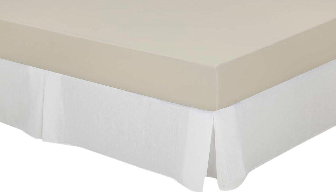 Cassa Luyton Cubre canapé loneta de Fuelles, Algodón-Poliéster, Blanco, 135 x 200 cm