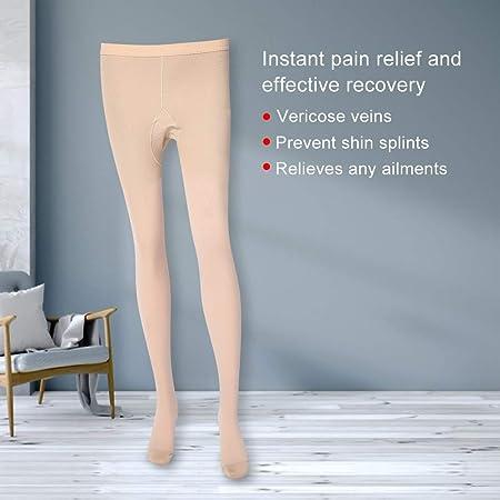 Calze Collant Siamesi M-Carne Vene Varicose a Compressione Vita Alta Calze Dimagranti Strette Aiutano a Prevenire la Tvp per Uomini e Donne