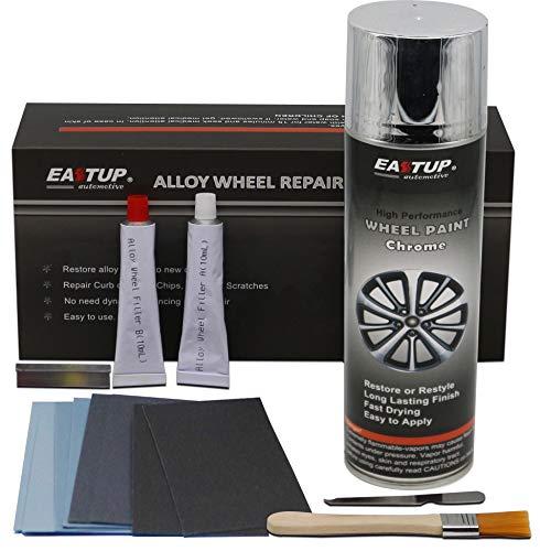 Alloy Rims Chrome - Eastup 80005 Alloy Wheel Repair Kit for Chrome Color Wheels