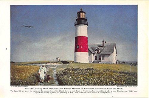 Print Ad 1944 Since 1850, Sankaty Head Lighthouse Has Warned Mariners