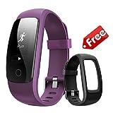 Best Gps Running Watch For Men - Fitness Tracker Watch with Purple Replaceable Band,Bonebit Waterproof Review