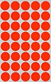 neon chart paper - Round Label colored Dot Stickers 19mm 3/4 inch - NEON RED - 600 Pack by Royal Green