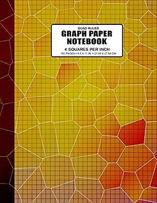 Quad Ruled Graph Paper Notebook 4 Squares Per Inch: Grid Paper ...
