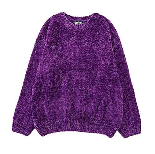 NMYY Thick Warm Oversized Chenille Long Sleeve Winter Autumn Basic Loose - Jacket Reversible Chenille
