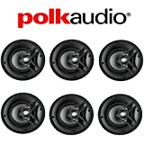 Polk Audio V60 High Performance Vanishing In-Ceiling Speakers (6 Pack)