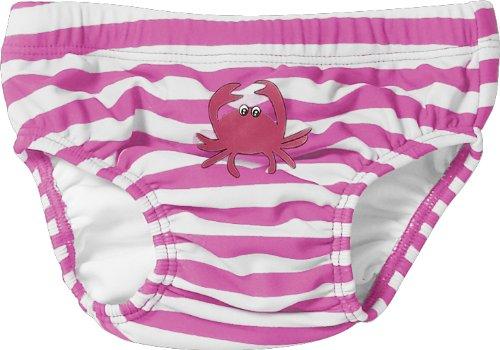 Playshoes Baby - Mädchen Schwimmbekleidung, gestreift 460100 Windelhose / Badehose Krebs von Playshoes mit höchstem UV-Schutz nach Standard 801 und Oeko-Tex Standard 100, Gr. 74/80, Mehrfarbig (900 original)