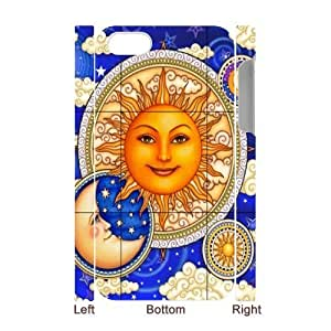 Sun Moon Pattern Personalized 3D Cover Case for Iphone 4,4S,customized phone case ygtg544013