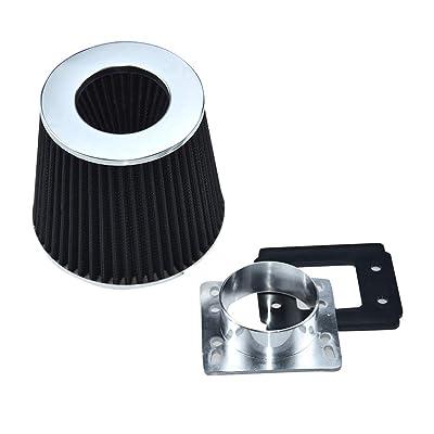 Lizudian BLK Mass Air Flow Sensor Intake MAF Adapter Filter for 1992 1993 1994 1995 1996 1997 1998 1999 2000 2001 2002 2003 Ranger 2.3/2.5/3.0L: Automotive