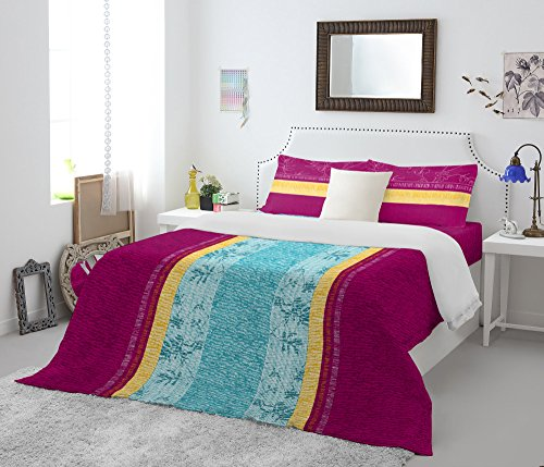 Spaces Atrium 144 TC Cotton Double Bedsheet with 2 Pillow Covers – Pink.