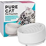 PureCat Cat Water Fountain | Complete Pet Water Fountain with Filter and Cleaning Brush for Cats and small Dogs | Designed in Germany