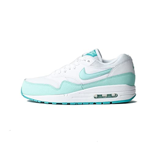 low priced 34756 453bf Nike Women s Air Max 1 Essential Shoes (11, White Artisan Teal Light