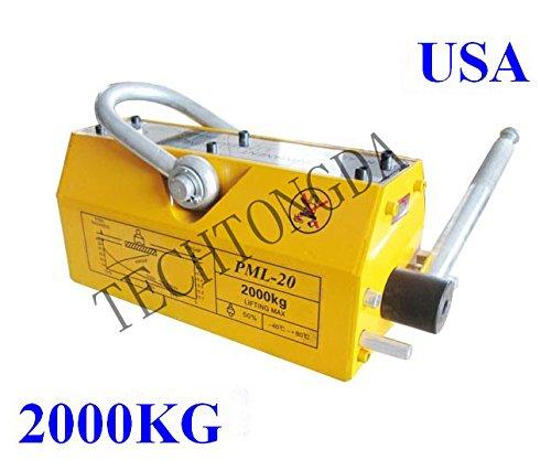 2000 KG Steel Magnetic Lifter Heavy Duty Crane Hoist Lifting Magnet 4400lb by Techtongda Lifter