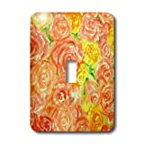 3dRose LLC lsp_22580_1 Cabbage Roses Single Toggle Switch