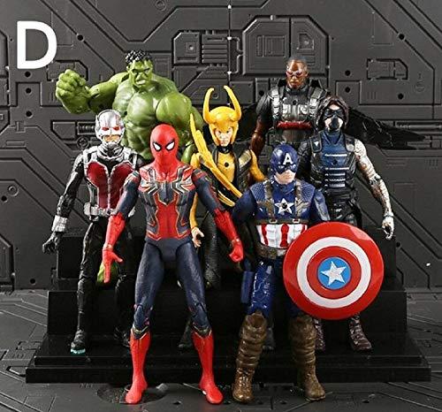18cm 7pcs/Set Justice League & Avengers Figure Super Hero Characters Model Vinyl Doll Figures Collectible Model Marvel Toys