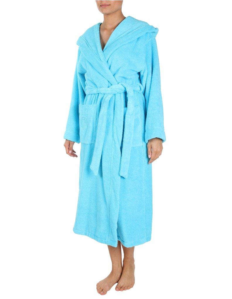 Feraud Turquoise Blue Cotton Robe 125cm 3661728-10024 Small