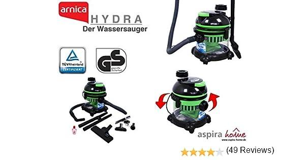 Arnica AA 144B - Aspiradora (2400 W, Aspiradora de tambor, Negro, Azul, Transparente, Metal, Telescópico, HEPA, Agua): Amazon.es: Hogar