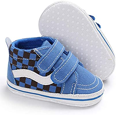0-18Months LAFEGEN Baby Boys Girls Shoes Soft Anti-Slip Sole Canvas Sneakers Toddler High Top First Walkers Shoes