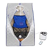 MegaBrand 2L Portable Steam Sauna Tent SPA Detox Weight Loss w/ Chair Silver