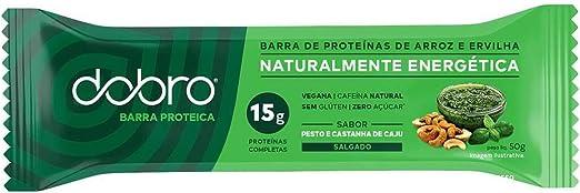 Barra de Proteína com Cafeína - Pesto e Castanha de Caju   DOBRO