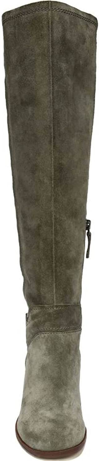 5.5, Pastoral Green Suede Franco Sarto Womens Mystic Knee High Boot