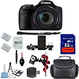 Canon PowerShot SX540 HS Digital Camera + Extremespeed 32GB High Speed Memory Card + High Speed Memory Card Reader + Spider Tripod + Camera Case and More