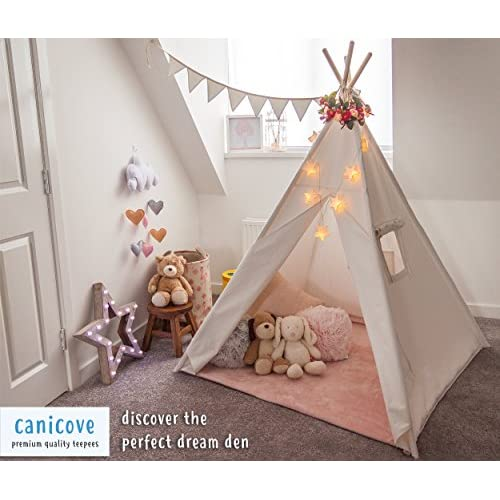 best loved fb382 b2f16 80%OFF Canicove Teepee Play Tent for Kids (White), Premium ...
