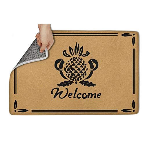 - Bombline Personalized Door Mats Pineapple Welcome Door Mat Non Slip Indoor/Outdoor Welcome Doormat 23.5