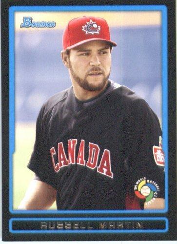 Russell Martin - Canada (World Baseball Classic) 2009 Bowman Draft WBC Prospects Baseball Card # BDPW18 - MLB Baseball Trading Card